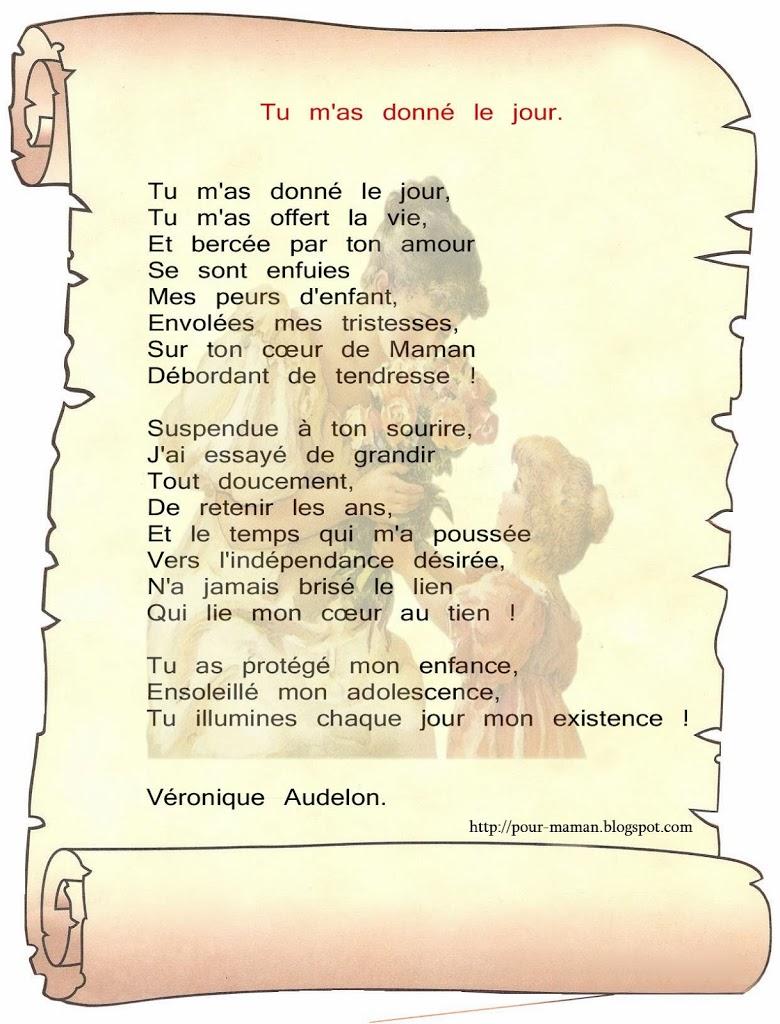 Poeme pourmaman a imprimer gratuit 1 Poeme pour maman a imprimer gratuit