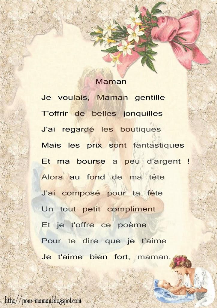 Poeme pourmaman a imprimer gratuit 4 Poeme pour maman a imprimer gratuit
