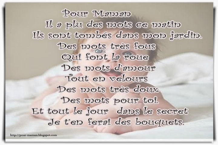 Texte Et Poème En Carte Pour Maman Poème Pour Maman