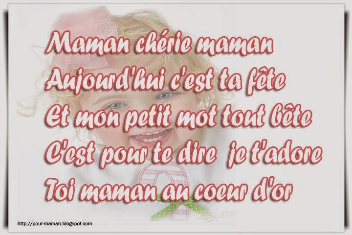 Très Texte et poème en Carte pour Maman | Poème pour maman MJ75