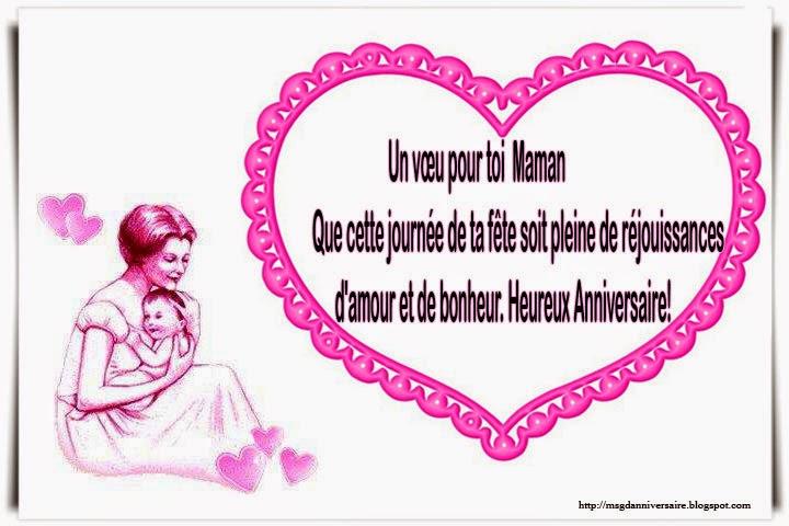 message anniversaire pour une maman
